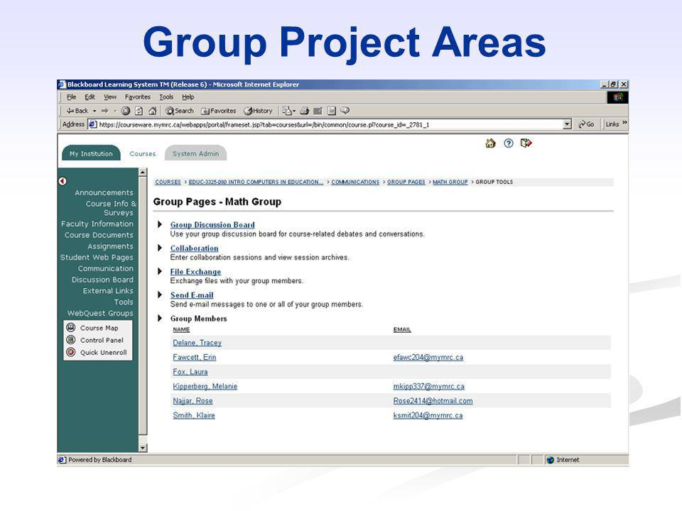 Group Project Areas