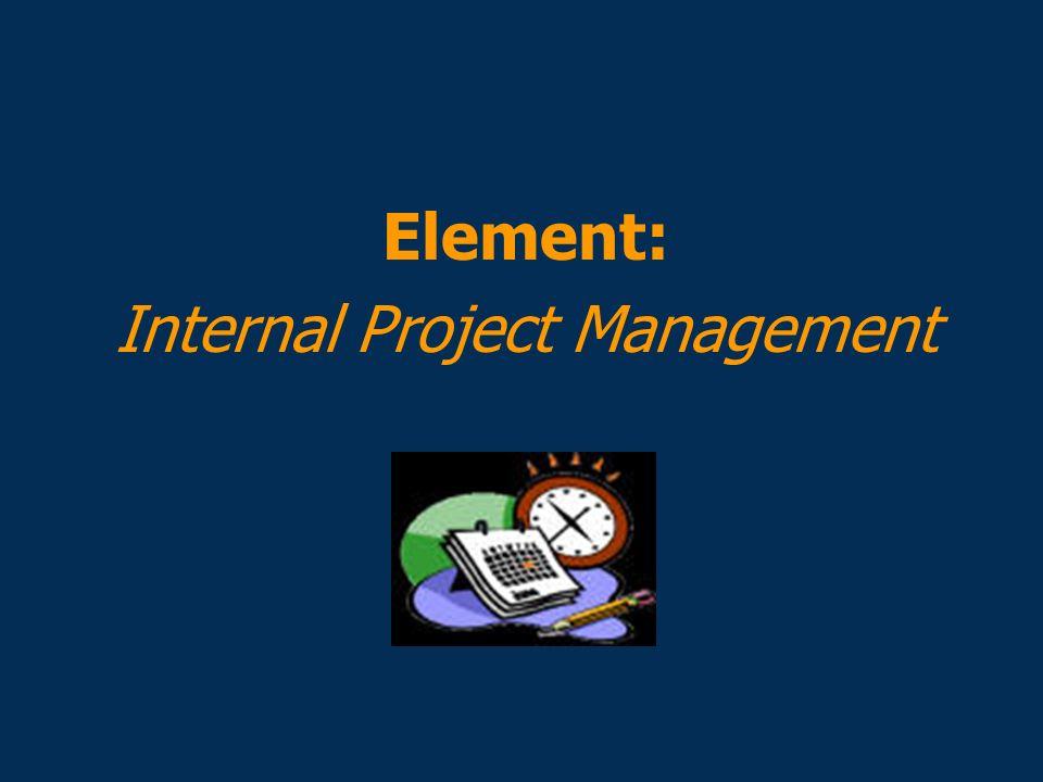 Element: Internal Project Management