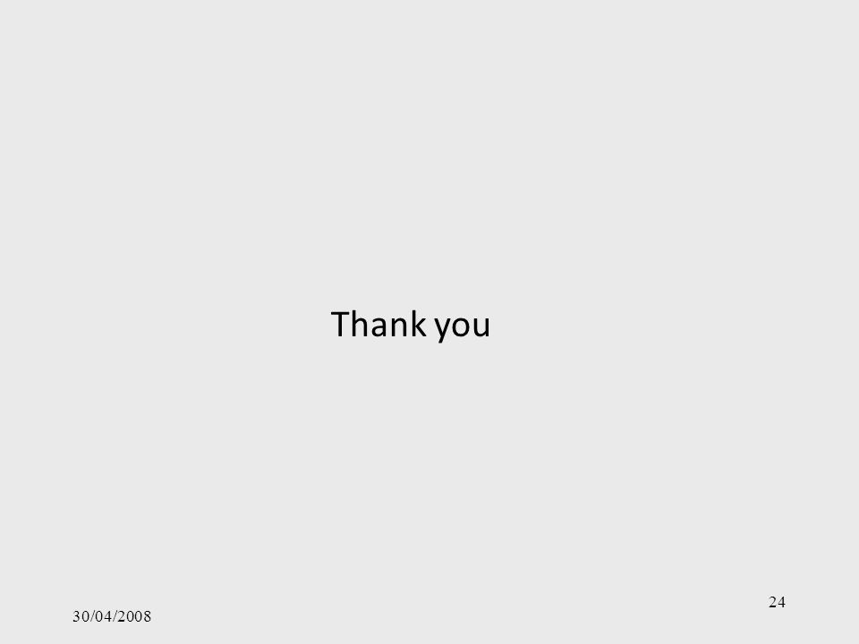 30/04/2008 24 Thank you