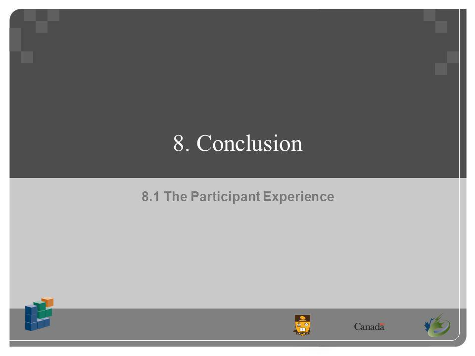 8. Conclusion 8.1 The Participant Experience