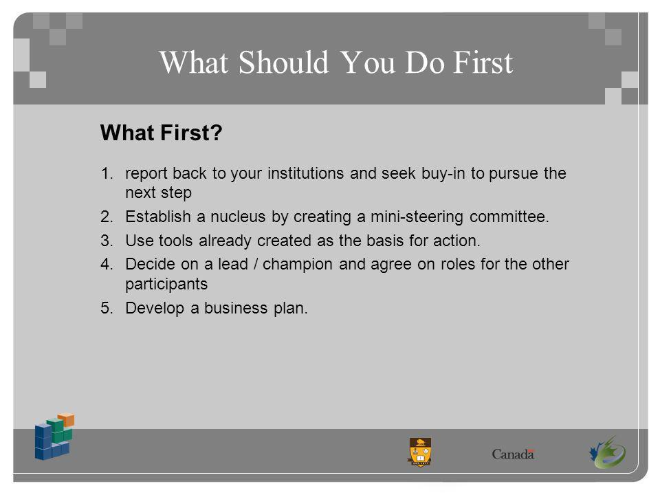 What Should You Do First What First.