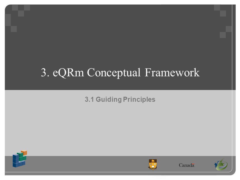 3. eQRm Conceptual Framework 3.1 Guiding Principles