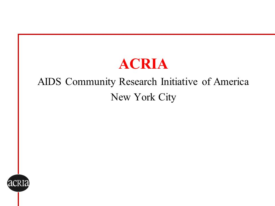 AIDS Community Research Initiative of America New York City