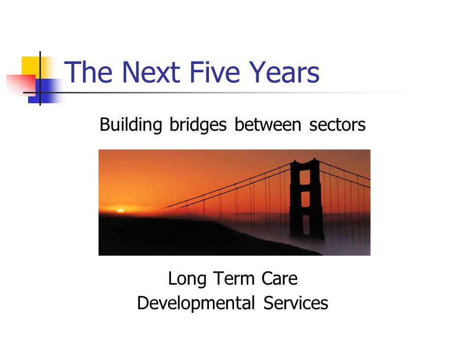 The Next Five Years Building bridges between sectors Long Term Care Developmental Services