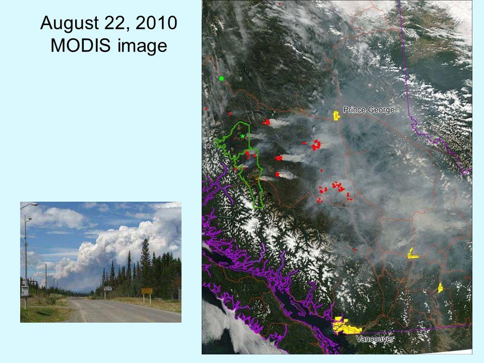 August 22, 2010 MODIS image