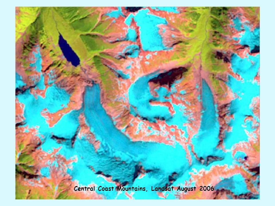 Central Coast Mountains, Landsat August 2006