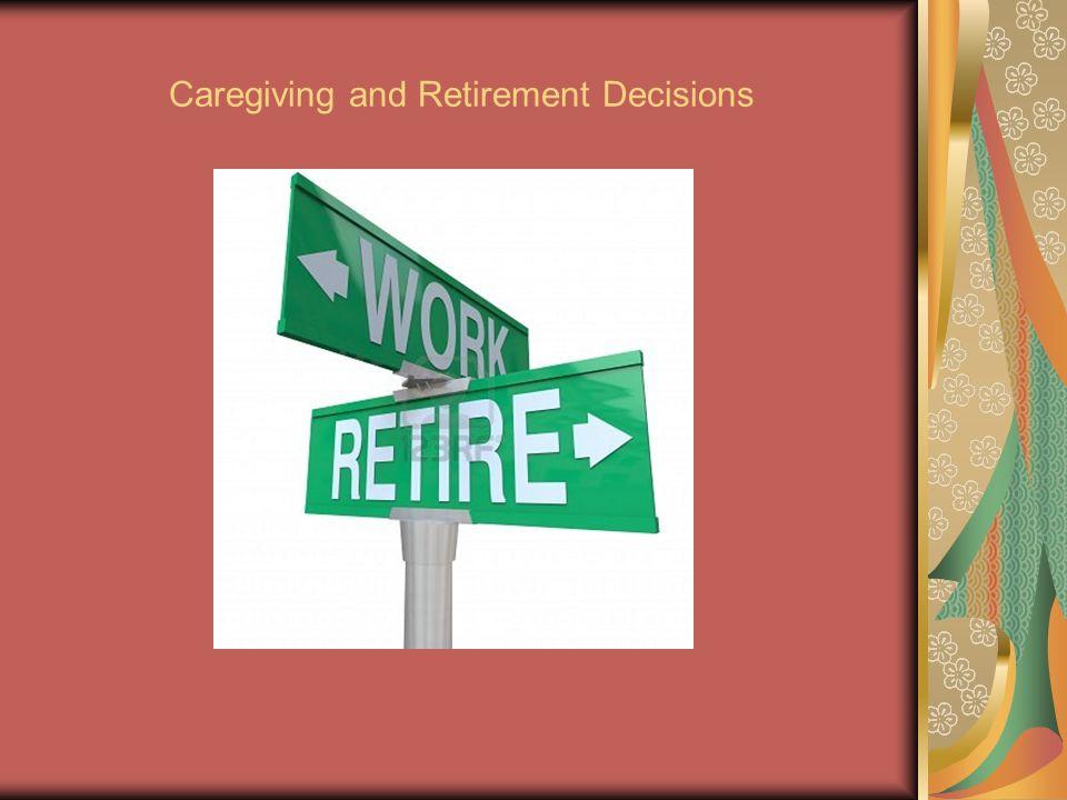 Caregiving and Retirement Decisions