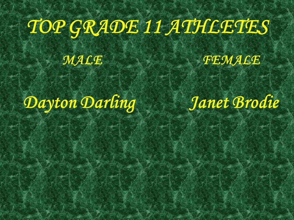 TOP GRADE 11 ATHLETES MALE FEMALE Dayton Darling Janet Brodie