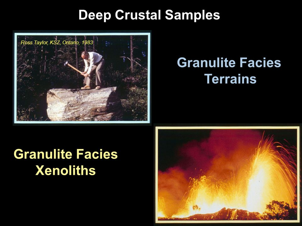 Granulite Facies Terrains Granulite Facies Xenoliths Deep Crustal Samples Ross Taylor, KSZ, Ontario, 1983