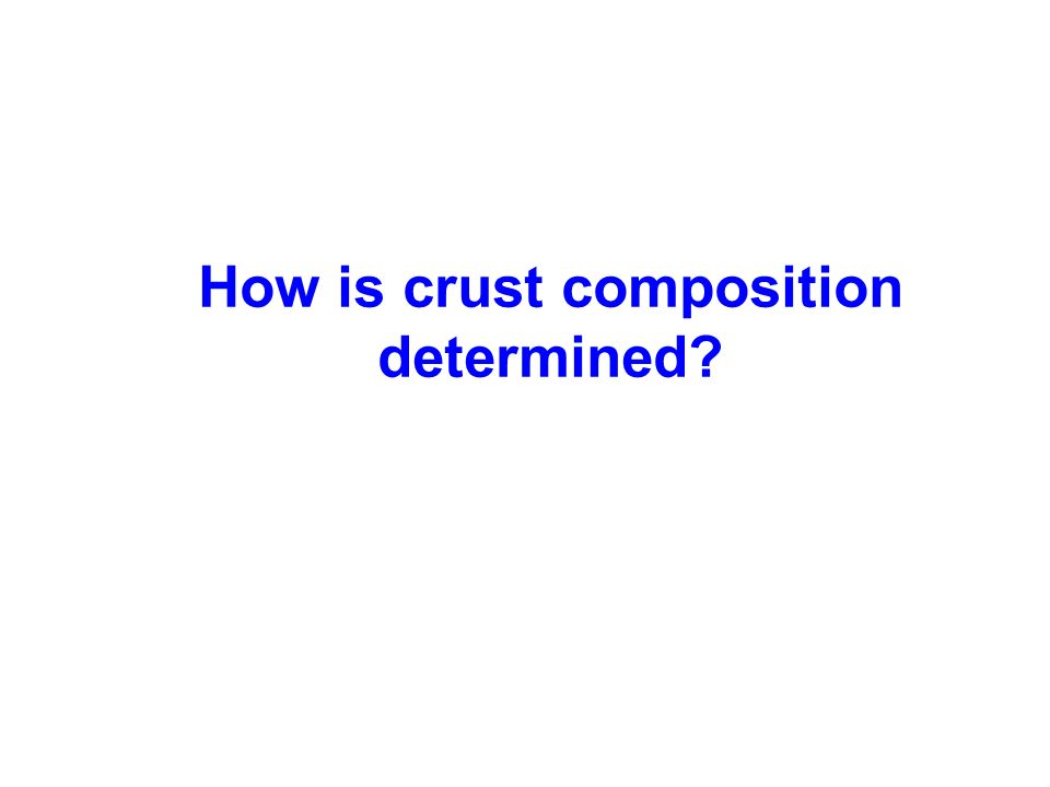 How is crust composition determined?