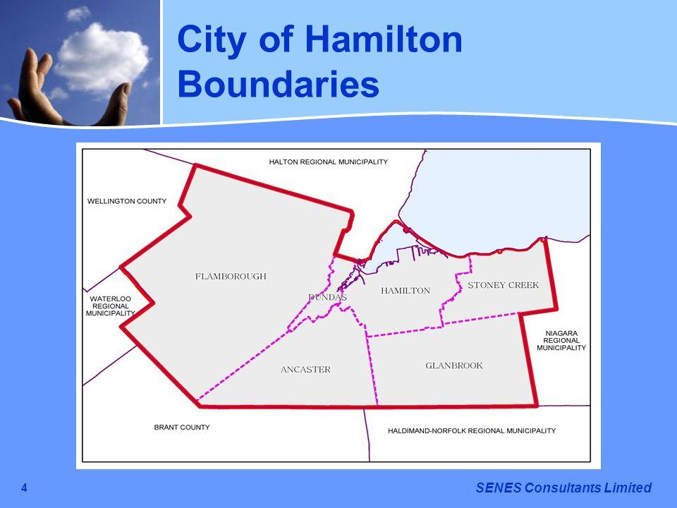 SENES Consultants Limited 4 City of Hamilton Boundaries