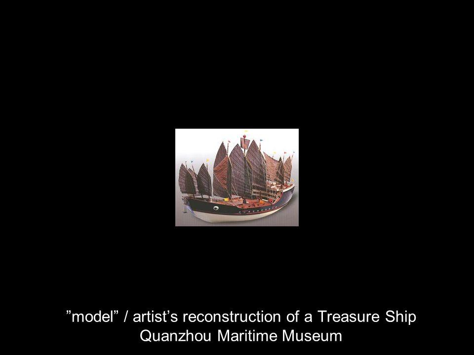 model / artists reconstruction of a Treasure Ship Quanzhou Maritime Museum