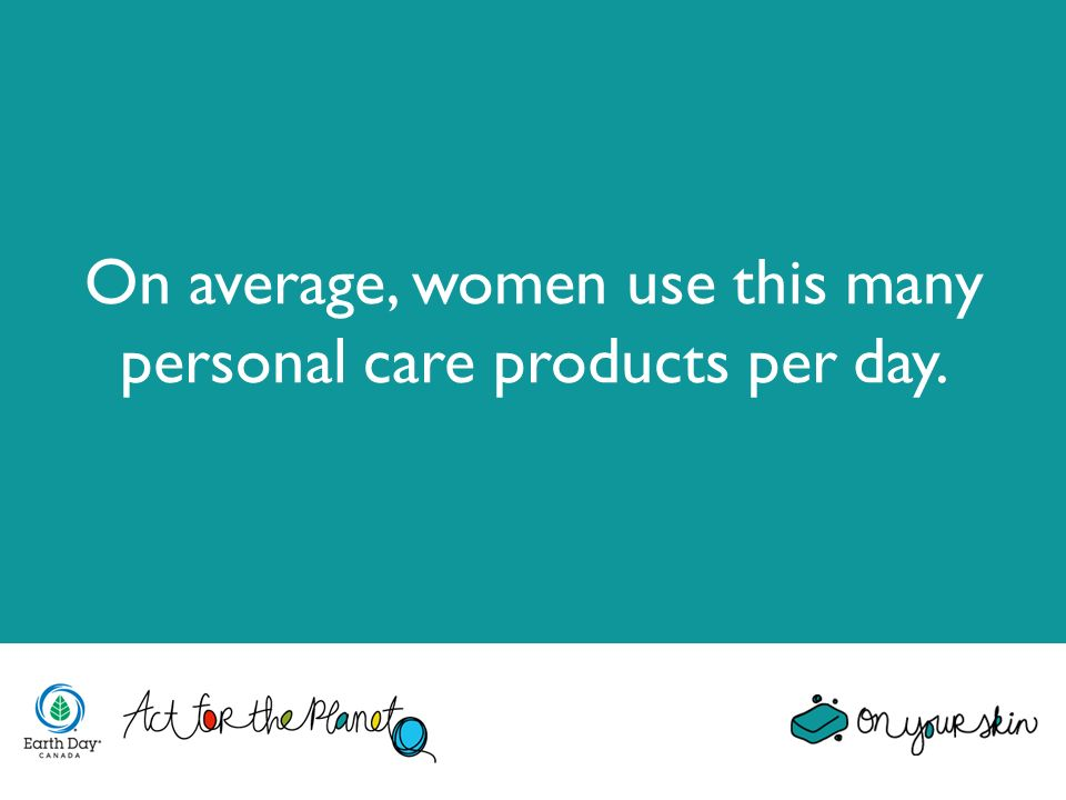 On average, women use this many personal care products per day.
