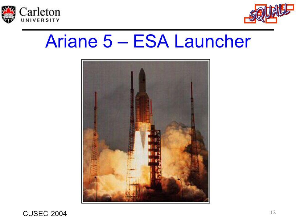 12 CUSEC 2004 Ariane 5 – ESA Launcher
