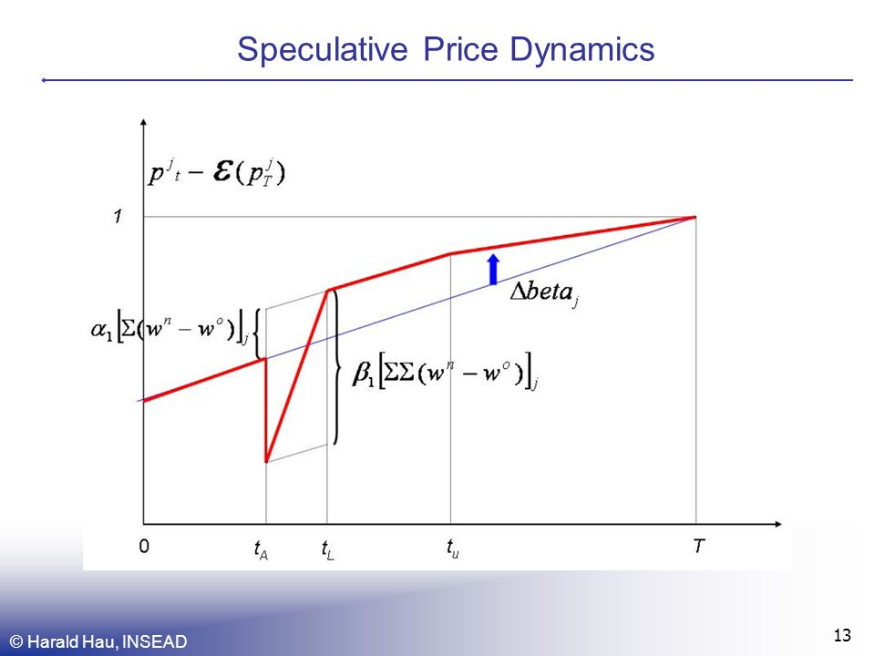 Speculative Price Dynamics © Harald Hau, INSEAD 13