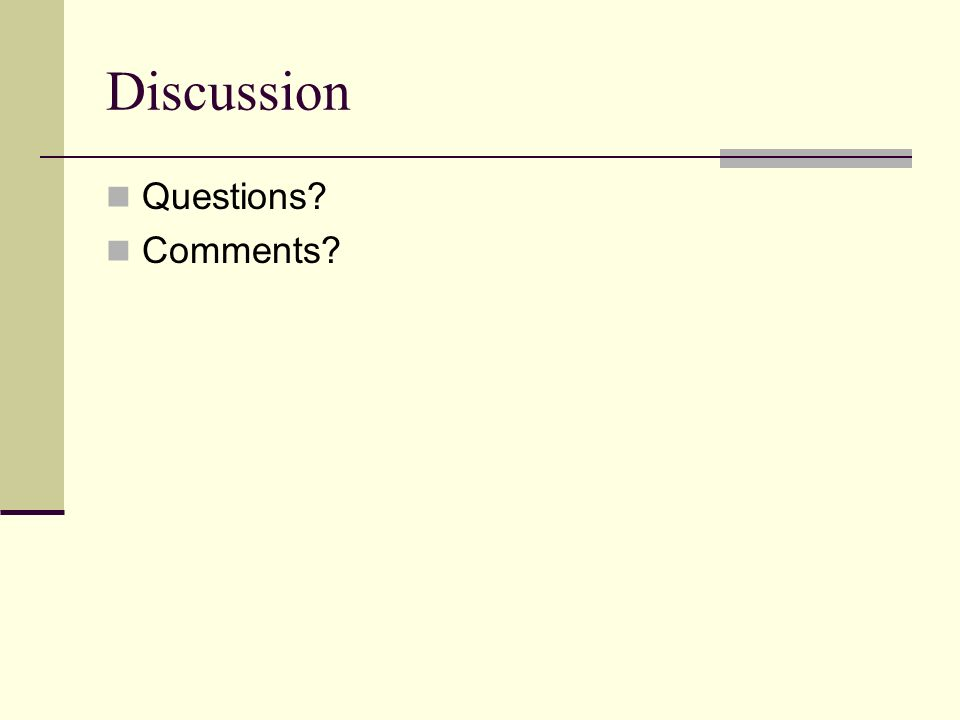 Discussion Questions Comments