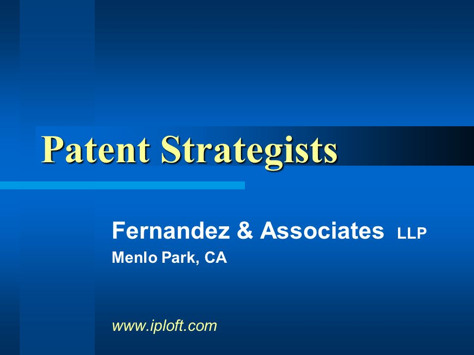 Fernandez & Associates LLP High-technology lawyers specializing in early-stage communications, semiconductor, and biotechnology companies.
