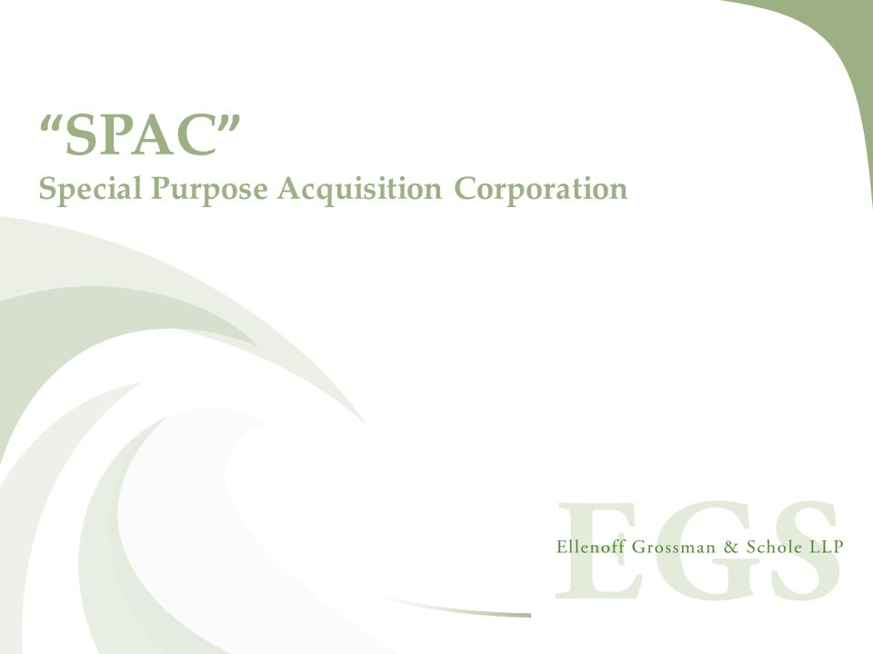 SPAC Special Purpose Acquisition Corporation