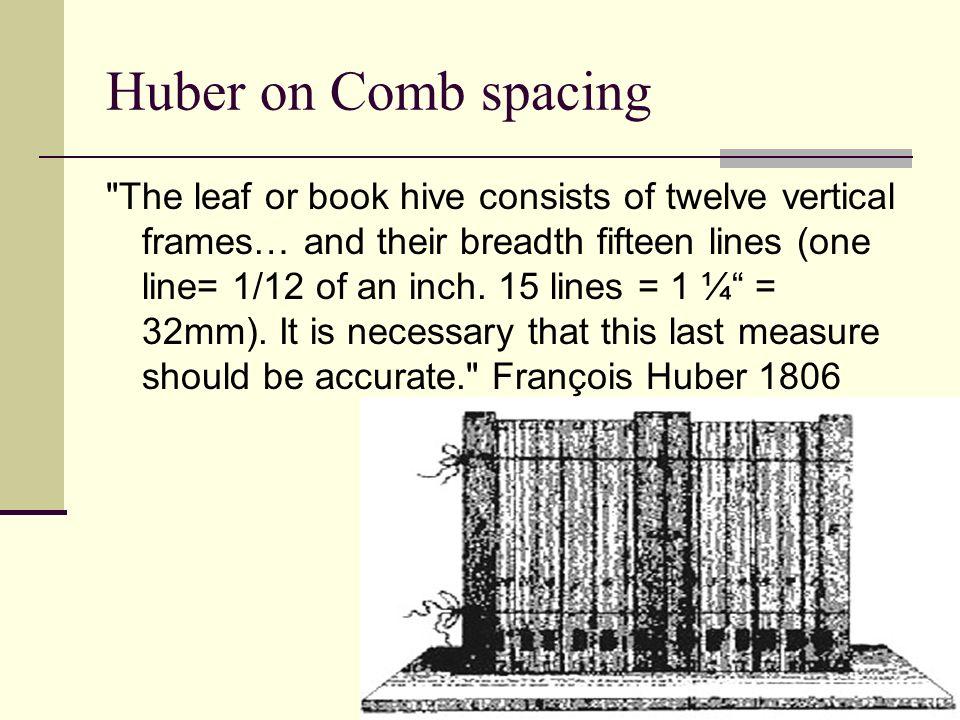 Huber on Comb spacing