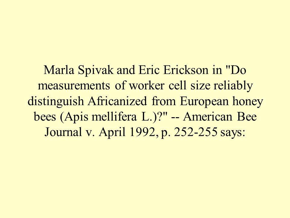 Marla Spivak and Eric Erickson in