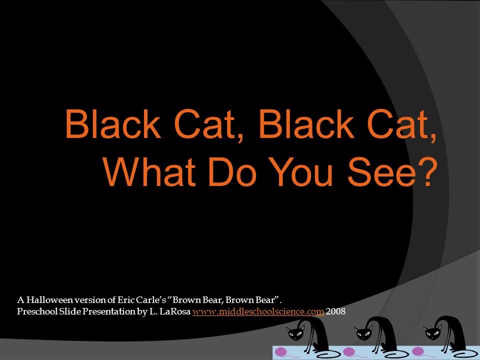 Black Cat, Black Cat, What Do You See? A Halloween version of Eric Carles Brown Bear, Brown Bear. Preschool Slide Presentation by L. LaRosa www.middle