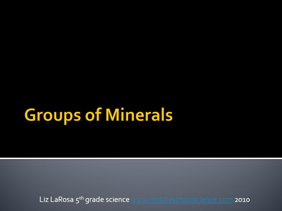 Minerals composed of only one element Examples are: Gold (Au) Copper (Cu) Silver (Ag)*