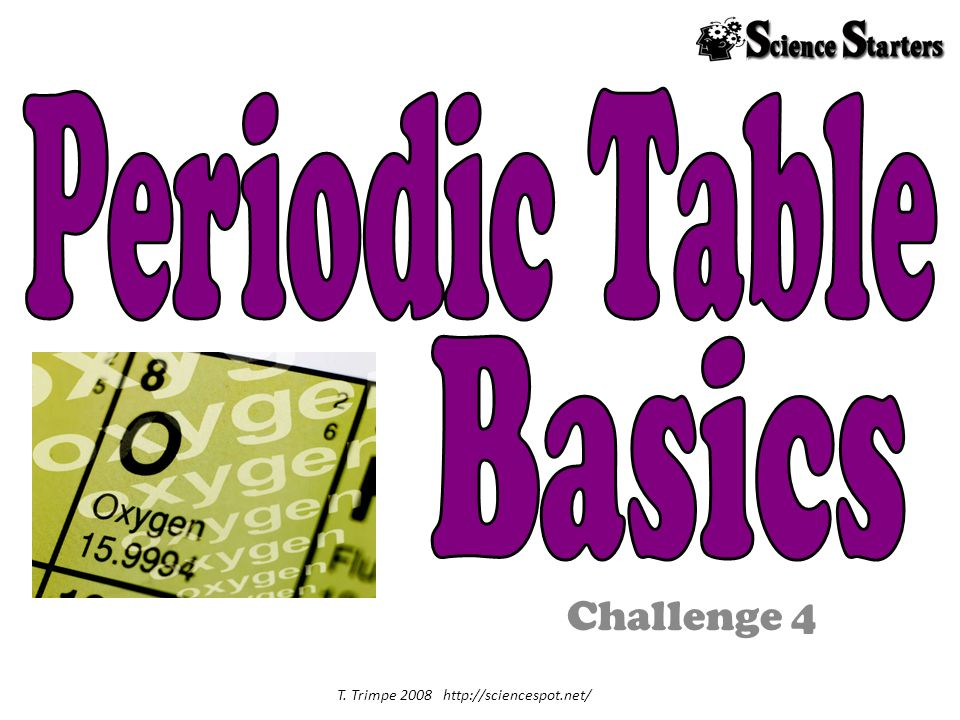 Challenge 4 T. Trimpe 2008 http://sciencespot.net/