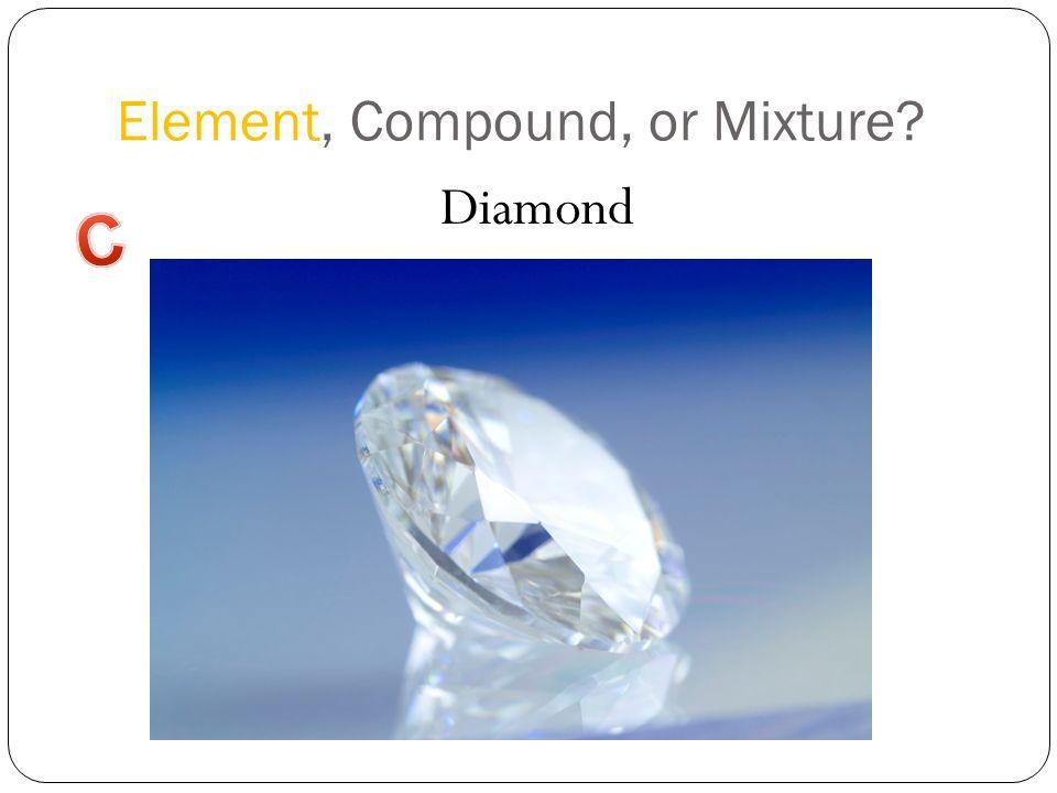 Element, Compound, or Mixture? Diamond