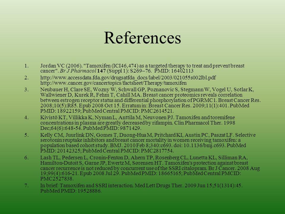 References 1.Jordan VC (2006).