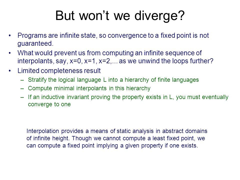 But wont we diverge.