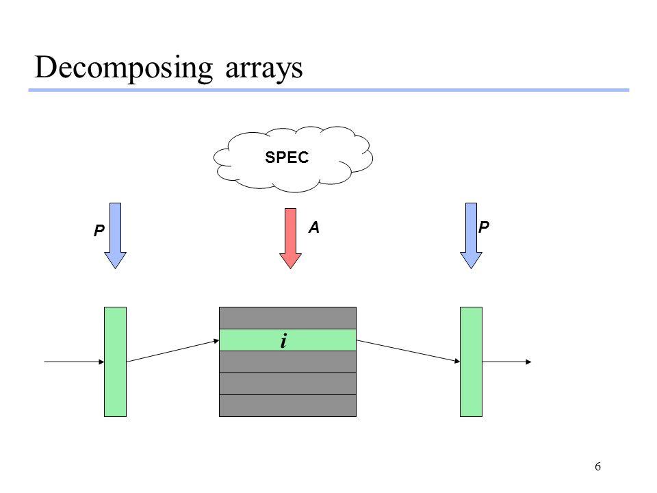6 SPEC P PA Decomposing arrays i