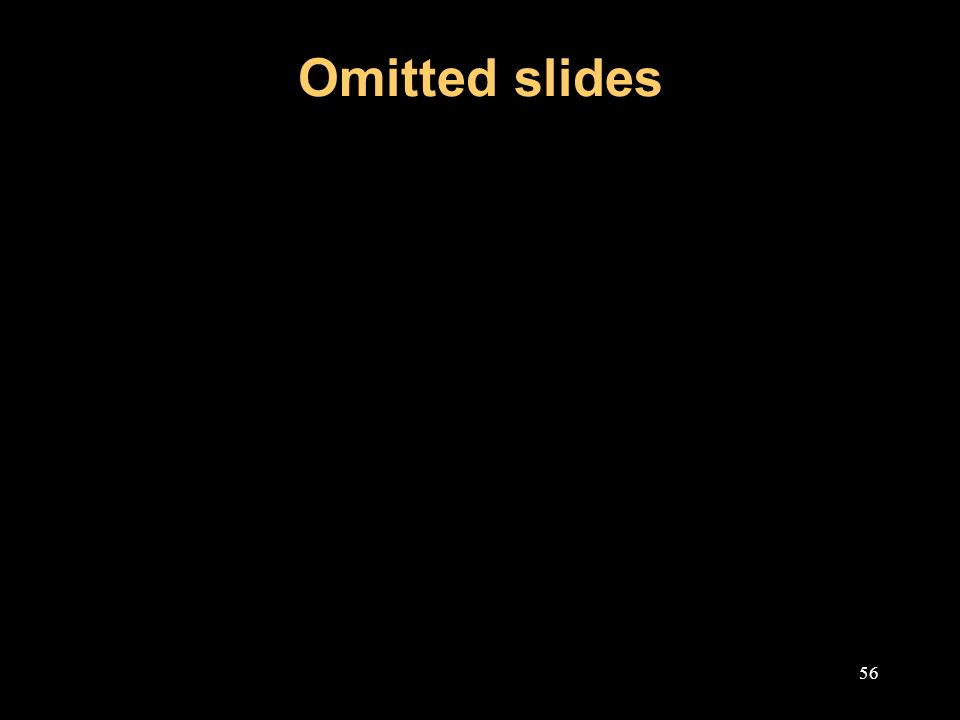 Omitted slides 56