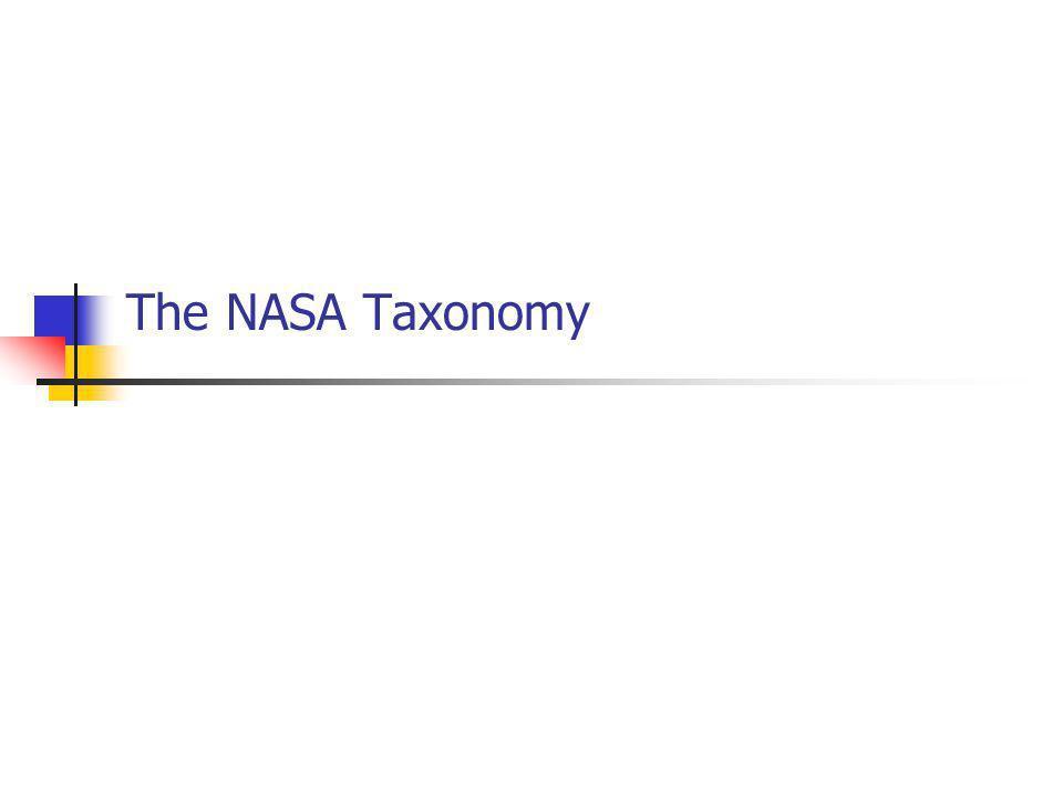 The NASA Taxonomy