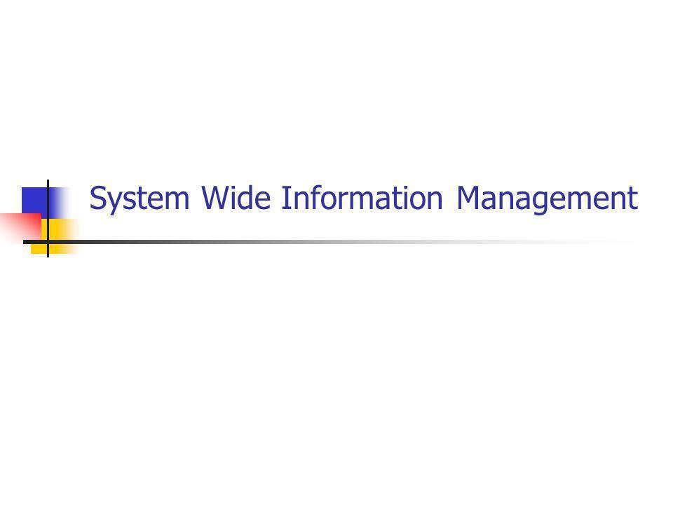 System Wide Information Management