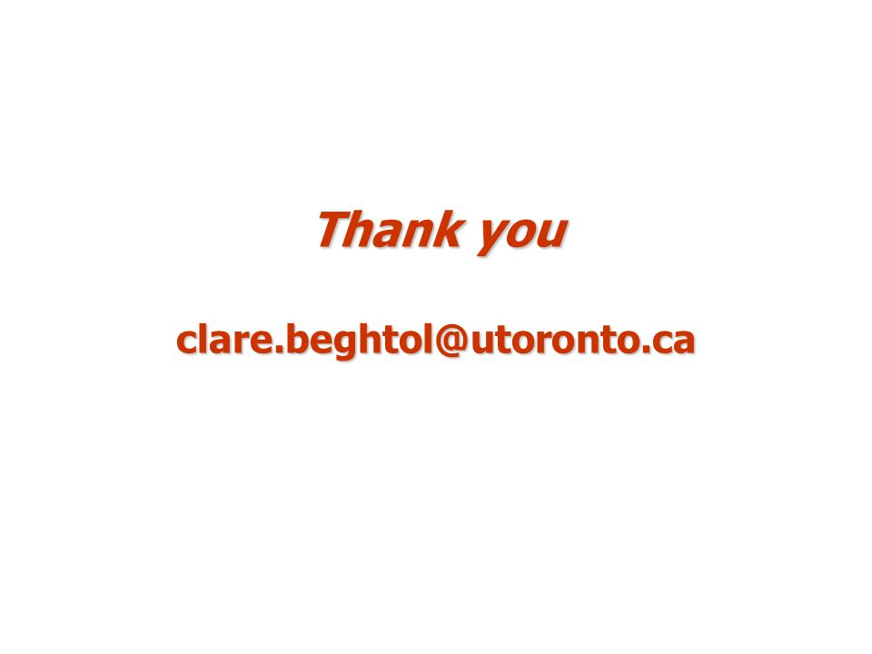 Thank you clare.beghtol@utoronto.ca