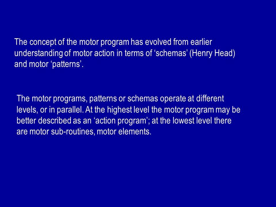 MOTOR PROGRAMS