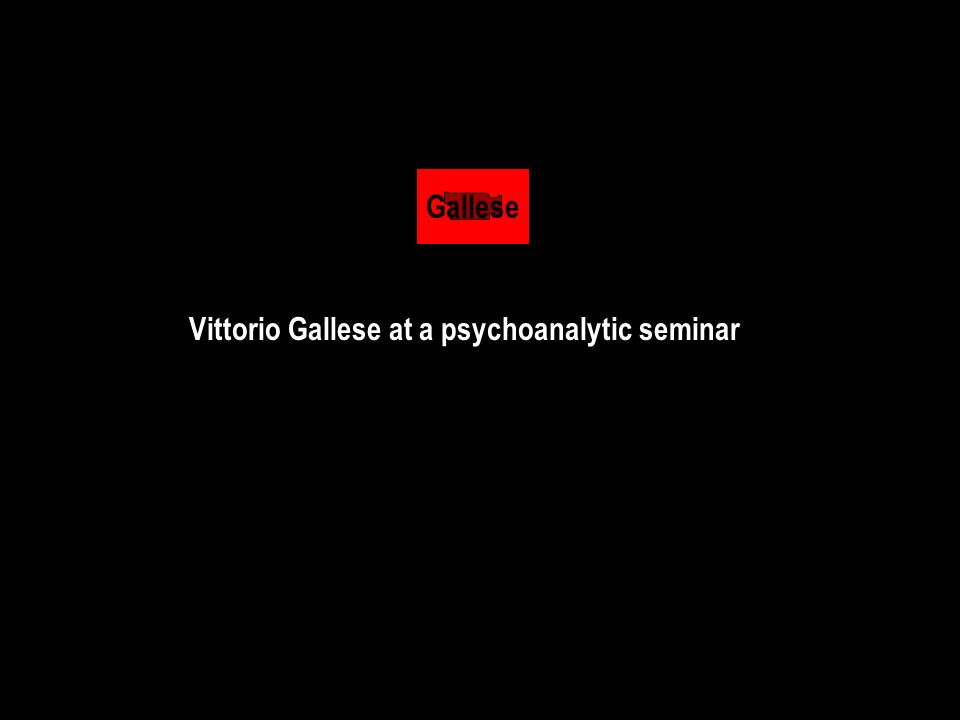 Gallese Vittorio Gallese at a psychoanalytic seminar