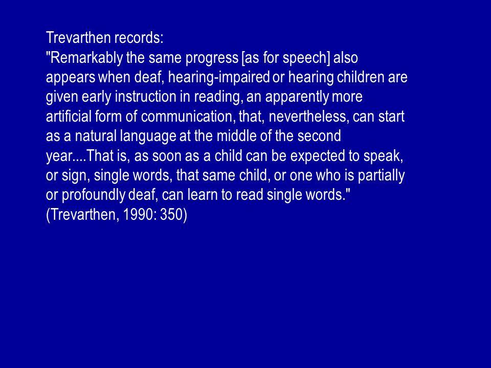 Trevarthen records: