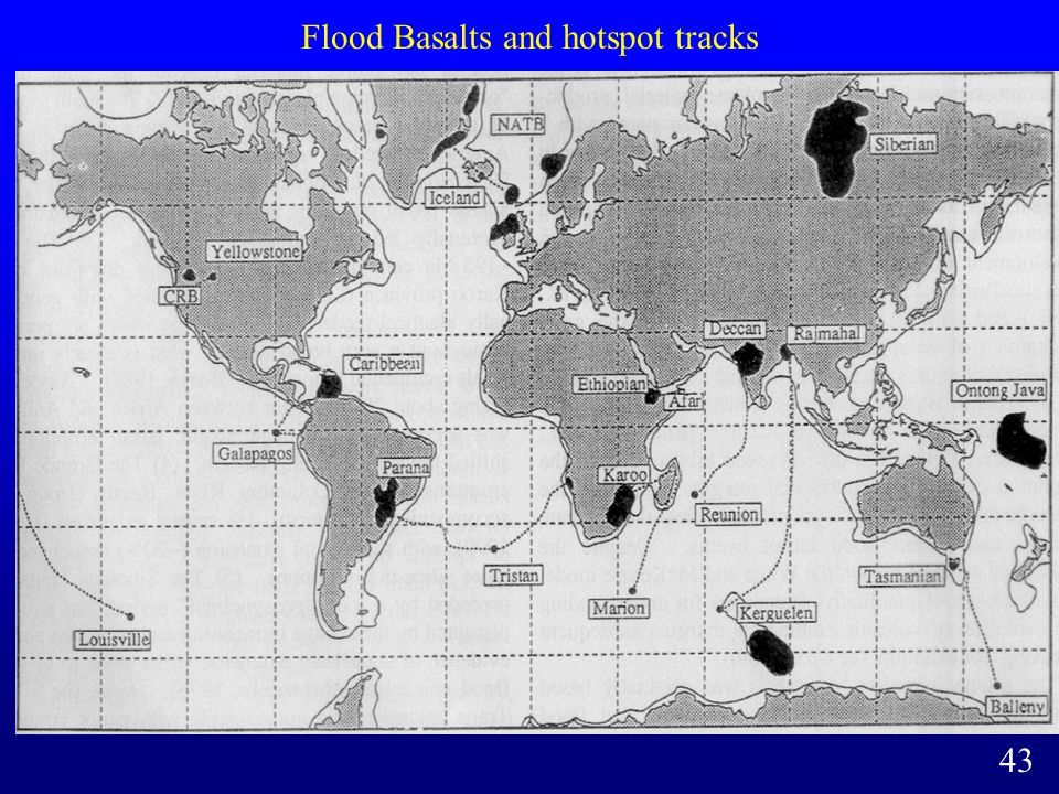 Flood Basalts and hotspot tracks 43