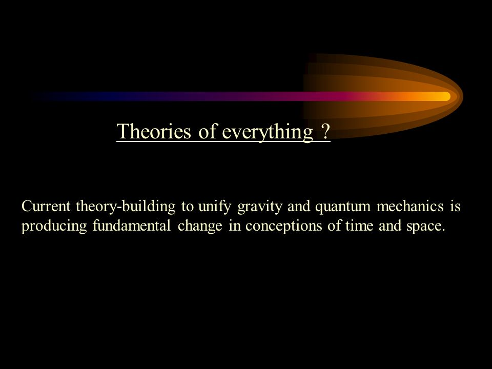Theories of everything .