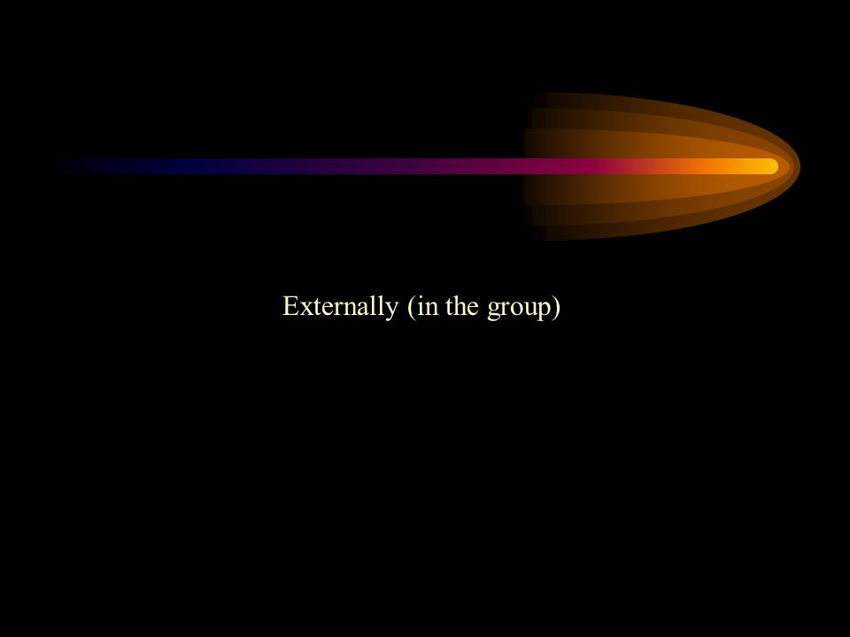 Externally (in the group)