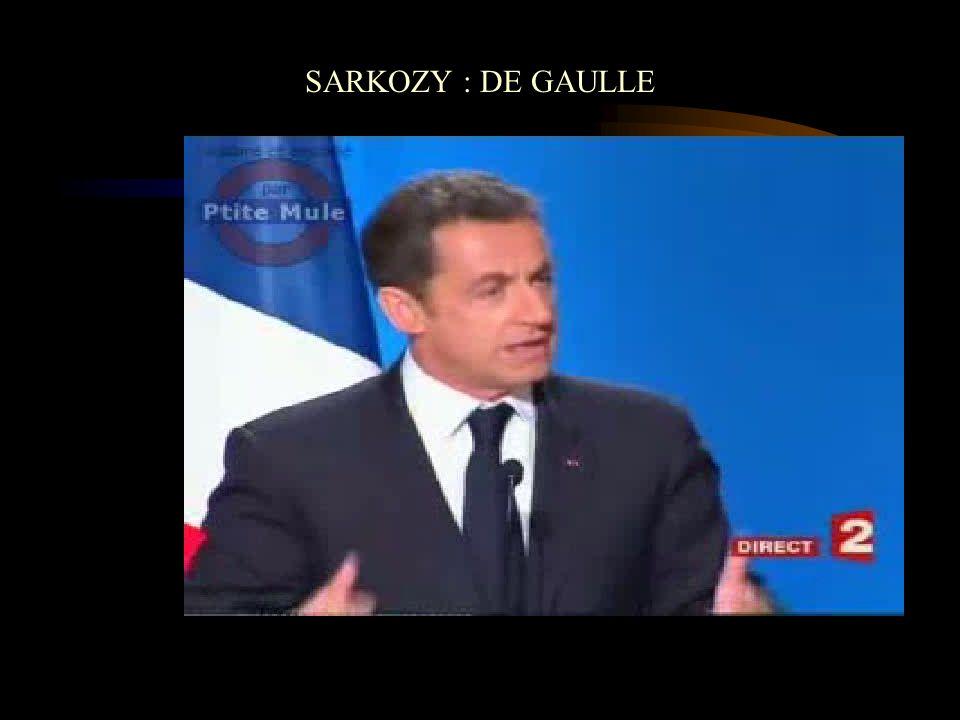SARKOZY : DE GAULLE