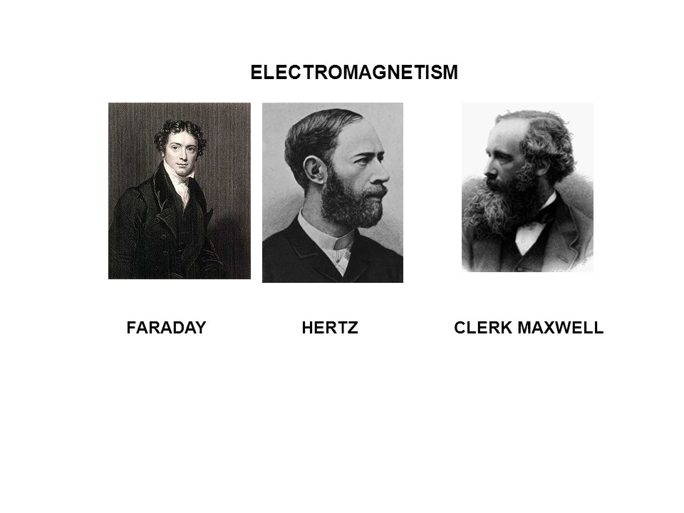 FARADAY HERTZ CLERK MAXWELL ELECTROMAGNETISM