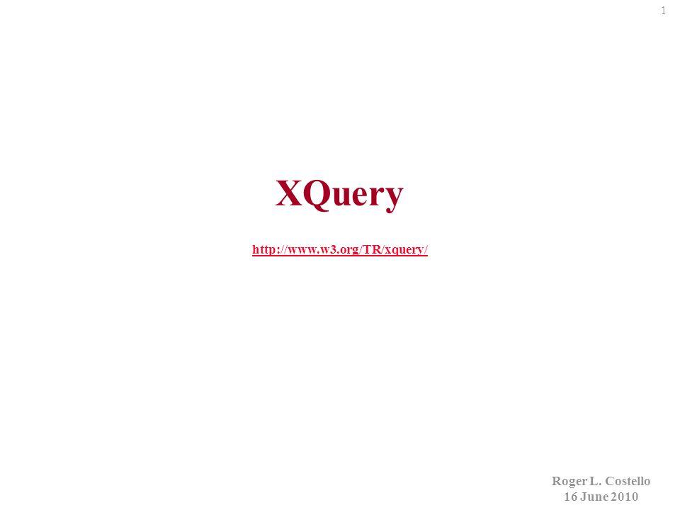 22 Member Names Member Names {for $i in //Member return {$i/Name/text()} } Jeff lightgrey David lightblue Roger lightyellow FitnessCenter.xml FitnessCenter.xq see example01 Member Names Jeff David Roger Evaluate the XQuery XQuery embedded in HTML