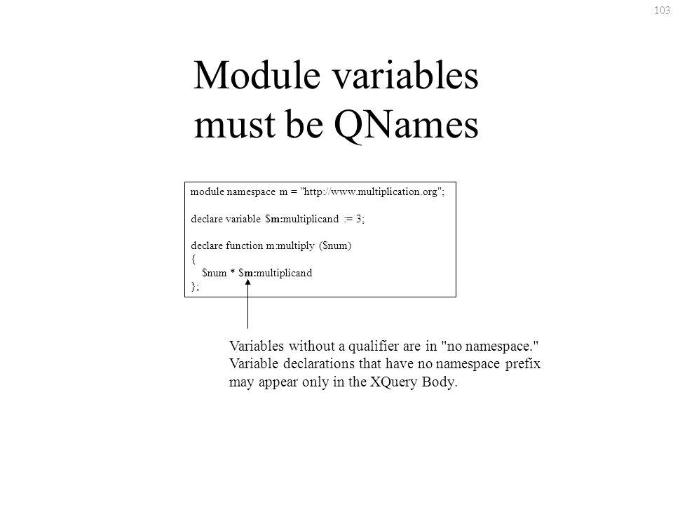103 Module variables must be QNames module namespace m =