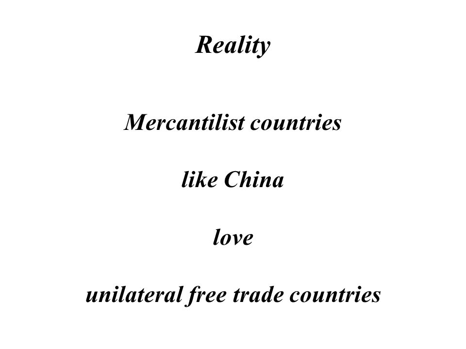 Reality Free Trade is a win-lose