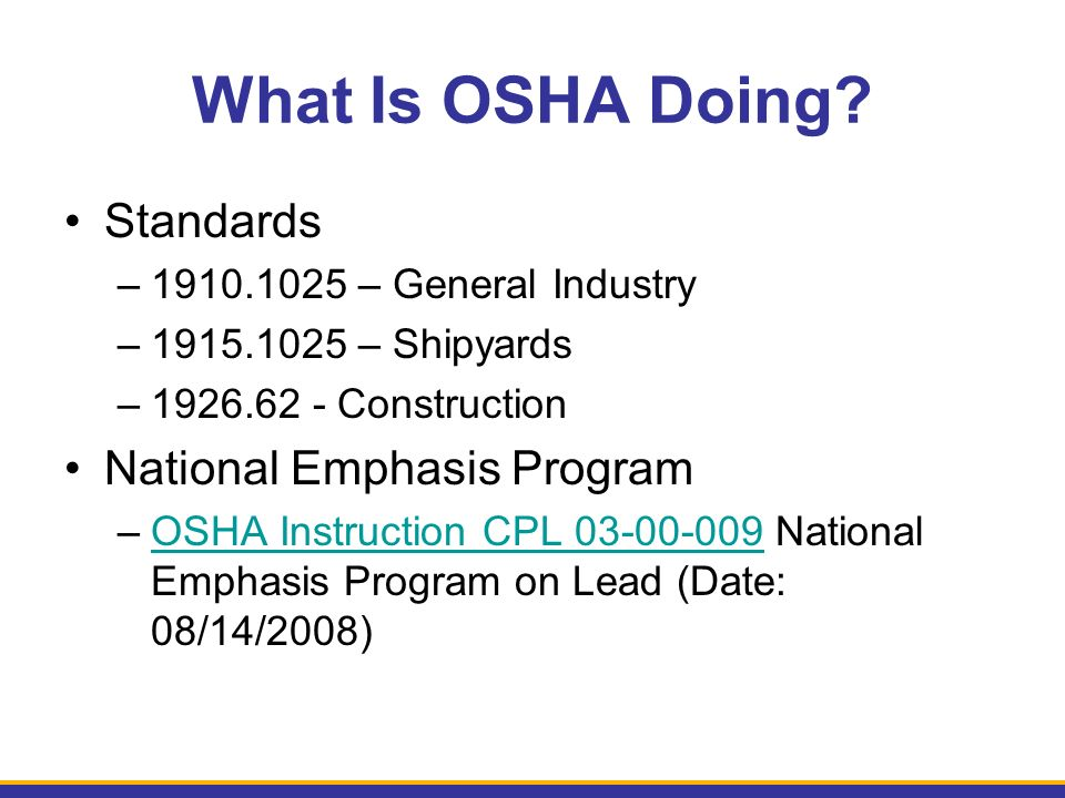 What Is OSHA Doing.