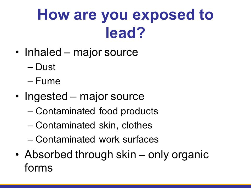 How are you exposed to lead.