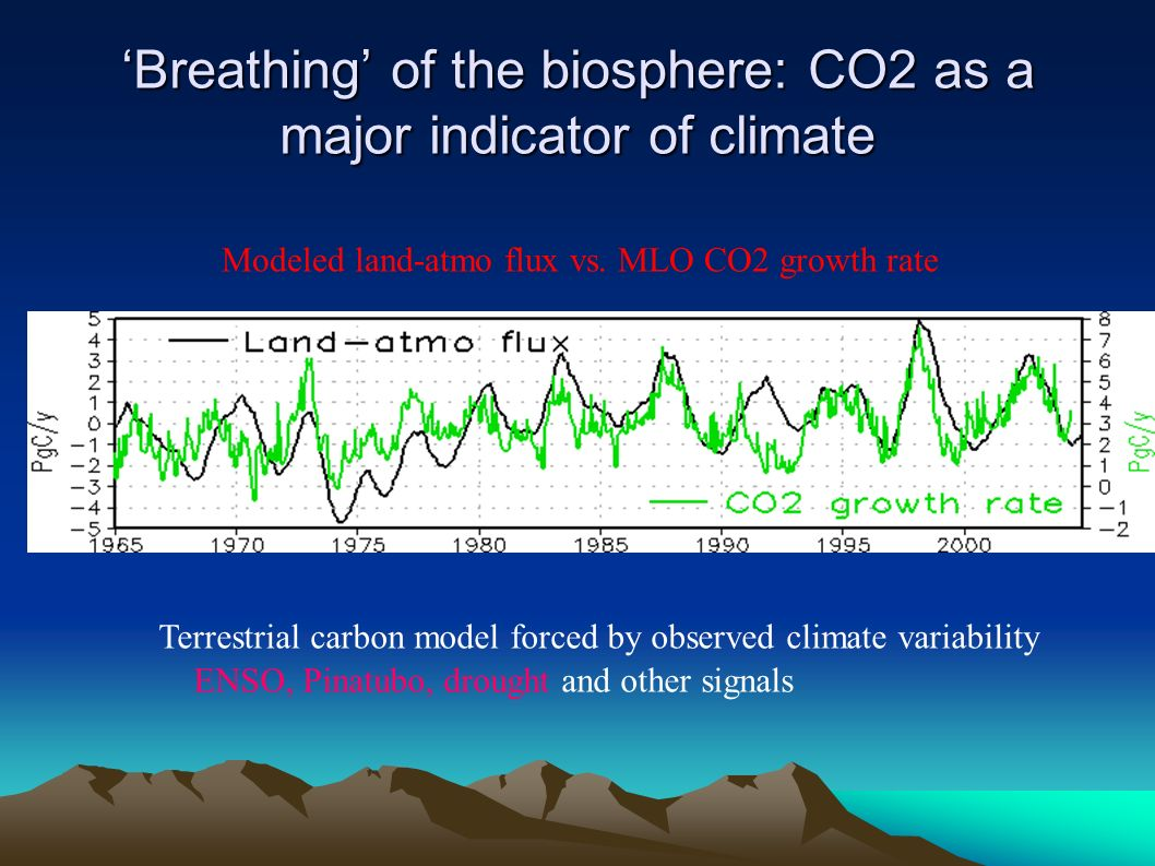 Breathing of the biosphere: CO2 as a major indicator of climateBreathing of the biosphere: CO2 as a major indicator of climate Terrestrial carbon mode