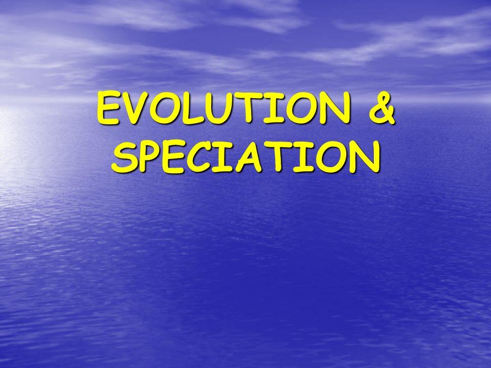EVOLUTION & SPECIATION